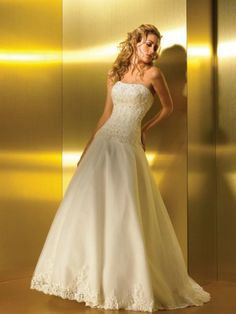 Tulle Softly Curved Neckline Embroidered Bodice Ball Gown Wedding Dress
