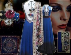 Shaded anarkali - MischB couture