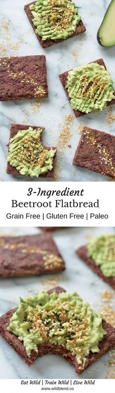 This grain-free, low-carb Beetroot Flatbread comes together with only three ingredients and is perfect for a Paleo-style breakfast or healthy grab-and-go sandwiches. For the full recipe, click here: http://www.wildblend.co/single-post/2016/11/10/Beetroot-Flatbread