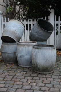 zinc dolly tubs