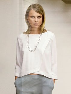 Look ma, no facings! Make a double layer blouse - The Couture Academic - Burda Wrap Blouse 04/2014 #115