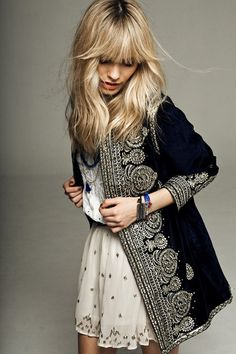 I would love to own this.... Love it! Black jacket Indian inspiration | Bohemian Fortunes