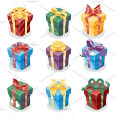 Gift Box  by Meilun on @creativemarket