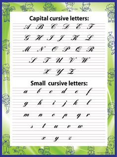 Capital Cursive Letters, Cursive Letters Worksheet, Calligraphy Letters Alphabet, Handwriting Alphabet, Handwriting Template, Alphabet Writing Style, English Cursive Writing, English Handwriting Styles, Lyrics