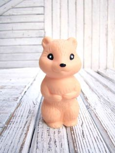 Vintage Rubber Gopher Toy Soviet Collectible baby pink color