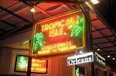 The Tropical Isle is the home of the famous Hand Grenade drink. It was founded in 1984 during the New Orleans World's Fair at the French Quarter.
