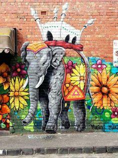 The street art in Melbourne is pretty incredible. Graffiti Art, Grafitti Street, Street Wall Art, Murals Street Art, Amazing Street Art, Amazing Art, Melbourne Street, Melbourne Art, Melbourne Australia
