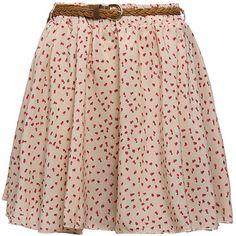 Zanzea Pleated Floral Chiffon Cute Mini Skirt with Belt Free Shipping! - US$7.89 ($50) found on Polyvore