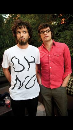 Looking a bit guilty there boys...   Flight of the Conchords