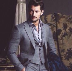 'The Timeless Man' David Gandy covers FHM Collections China A/W 2014 edition; photos by clothing by In the aptly-titled editorial, Jumbo Tsui beautifully captures David Gandy's. Sharp Dressed Man, Well Dressed Men, Mode Masculine, Gq, Esquire, Moda Formal, David James Gandy, David Gandy Suit, Hommes Sexy