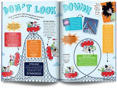 Moon layout UK children's science magazine for kids