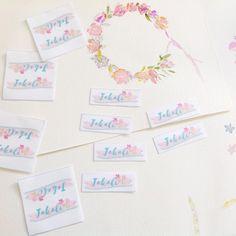 Étiquettes en tissu flower power | Corailindgo
