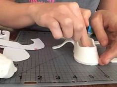 How to make fondant baby shoes - YouTube