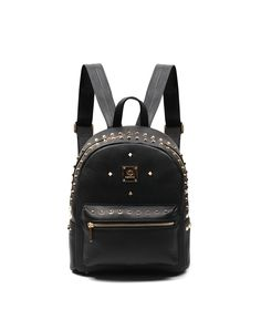 Check the details and price of this Black Rivet Leather Casual Backpack (Black, agebel) and buy it online. VIPme.com offers high-quality Backpacks at affordable price.