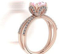 VALENTINE'S DAY  BEST  GIFT Disney Princess Cinderella inspired Rose Gold ring by BridalRings
