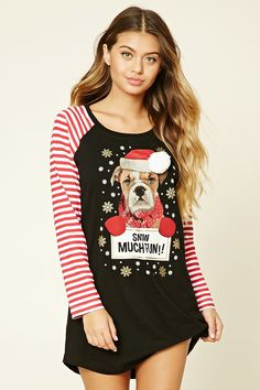 Snow Much Fun Nightdress  #F21HolidayMood