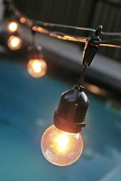 Construction Light String Extraordinary Use Poles Around The Patio Or Pool To Hang String Lights By Studio Design Inspiration