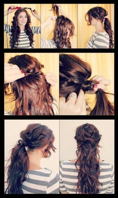 DIY Boho Chic Ponytail Hairstyle