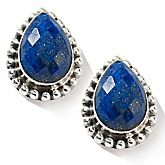 Nicky Butler Pear-shaped Lapis Sterling Studs