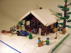 Lego Log Cabin - Two Seasons http://lego.cuusoo.com/ideas/view/20153 #lego