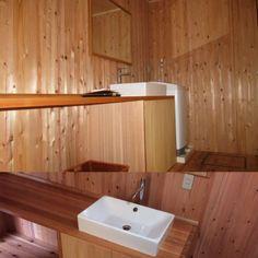 手作り洗面カウンター 秦建築オリジナル・奈良の木フリー板での製作です。