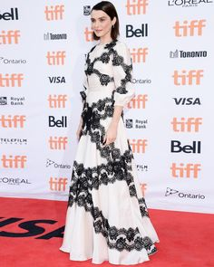 Rachel Weisz wore Dolce&Gabbana to the 'Disobedience' premiere during the 2017 Toronto International Film Festival at Princess of Wales…