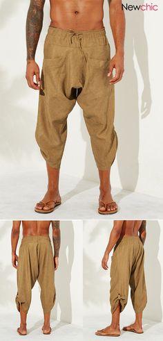 Newchic Com, Ethnic Fashion, Family Matters, Vintage Men, Corduroy, Parachute Pants, Calves, Harem Pants, Life Quotes