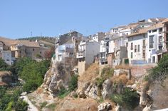 View of Alhama town from the side of the gorge, Los Tajos