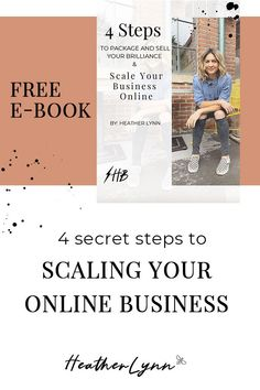 Are you trying to grow and scale your service based online business? Get this free ebook and learn 4 Steps to Package & Sell Your Brilliance and Scale Your Business Online! Online Entrepreneur, Business Entrepreneur, Business Tips, Online Business, Online Marketing, Social Media Marketing, Marketing Strategies, Blog Writing Tips, Online Coaching