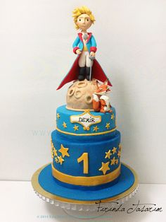 the little prince fondant cake