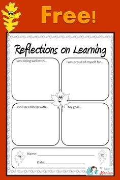 Help your students reflect on their learning with this quick & free printable.  Great for parent teacher conferences, open house, report cards and goal setting!