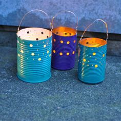 upcycled tin can luminaries, crafts, decoupage, repurposing upcycling                                                                                                                                                      More