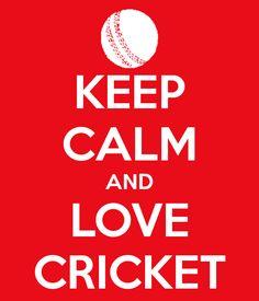 Keep Calm and love cricket cricketbatforsale.com