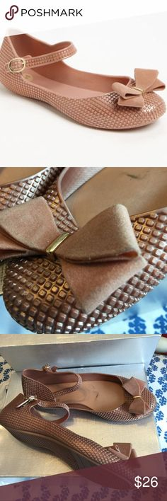 Mel by Dreamed of Mellisa Beautiful buckle strapped must have Blueberry Mel jelly flats with a bow on toe. Great slightly used condition. Very comfortable. Good for beach/water activities. Washable. Shoes Sandals