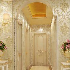 New Rainbow™ Classical Wallpaper Art Deco Gold foil wallpaper Wall Covering…