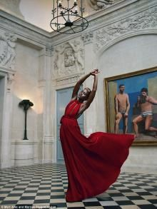 LUPITA NYONG'O | Work of art: Photographers Mert Alas and Marcus Piggott shot the 32-year-old Oscar winner - styled by Tonne Goodman - in Paris at the Schiaparelli House and the Picasso Museum