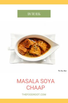 Soya Chaap Masala is a dish where Soya Chaap pieces are fried and marinated, and than added into a spiced onion-tomato based fragrant gravy. Pair it with a naan or steamed rice and enjoy! #SoyaChaapMasala #SoyaChaapGravy #SoyaChaap #Soya #VegetarianRecipes #IndianVegetarianRecipes #GlutenFree #Vegan #OnionTomatoGravy Delicious Recipes, Easy Recipes, Easy Meals, Yummy Food, Vegetarian Protein, Vegetarian Recipes, Healthy Cooking, Cooking Recipes, Tandoori Roti