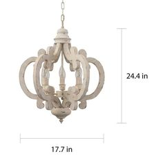 Cottage Chic Crown 6-light Farmhouse Wood Chandelier - On Sale - Overstock - 28702810