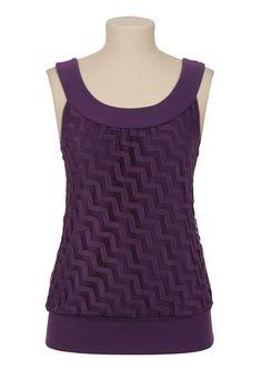 Zig-Zag U-Neck Top - maurices.com