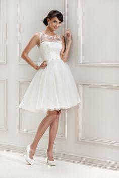 Kurzes Brautkleid aus der Agnes by Mode de Pol Kollektion 2015 :: short bridal…