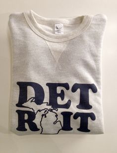Detroit Mitten State French Terry sweatshirt. My favorite! So comfy!