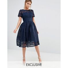 Chi Chi London Premium Lace Dress with Cutwork Detail and Cap Sleeve ($98) ❤ liked on Polyvore featuring dresses, layered dress, high neck dress, high neck lace dress, layered lace dress and tall dresses