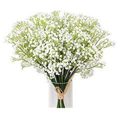 Kaimao 9 Pcs Artificial Gypsophila Flower / Fake Beautiful Flower for Wedding Party Home Decoration - White