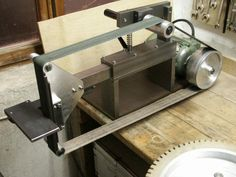 Forging Tools, Sharpening Tools, Blacksmith Tools, Metal Projects, Welding Projects, Metal Crafts, 2x72 Belt Grinder Plans, Diy Belt Sander, Knife Grinder