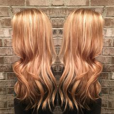 Strawberry golden blonde by Misty Callaway at Cheveux salon in Hendersonville , TN #redkencolor