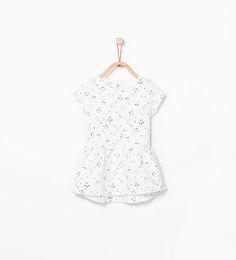 ZARA - NIÑOS - Vestido estampado jacquard