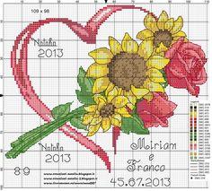 Вышивка крестом сердечек на День Святого Валентина