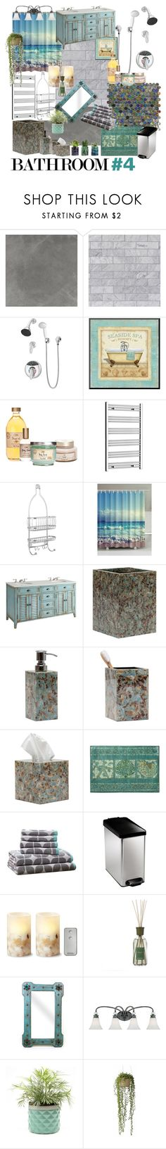 """""""Geen titel #318"""" by miriam-witte ❤ liked on Polyvore featuring interior, interiors, interior design, home, home decor, interior decorating, WALL, Symmons, InterDesign and Pigeon & Poodle"""