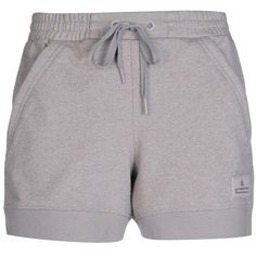Adidas By Stella  Mccartney Shorts ($84) ❤ liked on Polyvore featuring activewear, activewear shorts, light grey, adidas sportswear, adidas, logo sportswear and adidas activewear