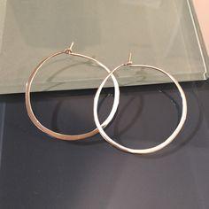 Handmade 925 Sterling Silver Extra Large Hoop Earrings by EllynBlueJewelry on Etsy https://www.etsy.com/listing/217355231/handmade-925-sterling-silver-extra-large